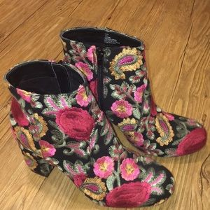 MIA embroidered booties. Size 8.5.